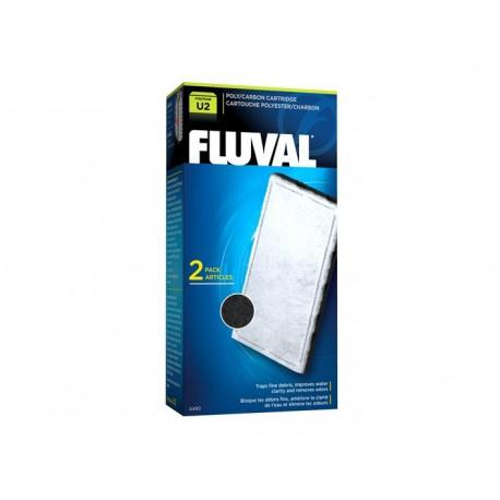 Fluval U2 Poly/Carbon Cartridge,2pcs-V