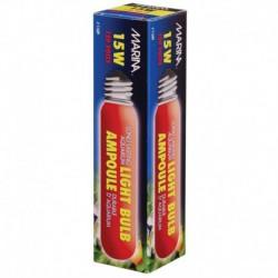 Ampoule incandescente tubulaire Marina, rouge, 15 W, paquet