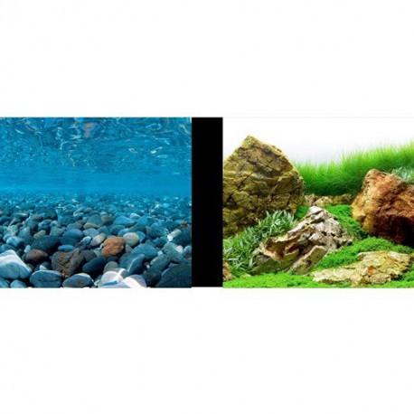 MA Bkgd Stoney Rivr/Jap Grdn,24in,25ft-V MARINA Decorations Aquarium