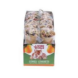 Régals LW pour petits animaux, cornets, arôme de fruits, 40