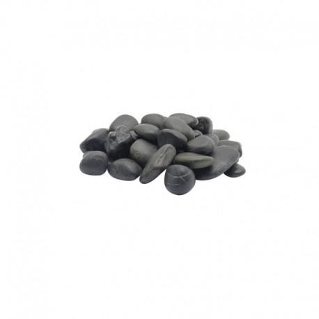 Grav. nat. MA, galets plage, noirs, 2 kg
