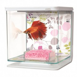 Aq. équipé MA pour betta, arrang. floral MARINA Aquariums Kit