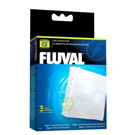Fluval C2 Poly Foam Pad, 3pcs-V