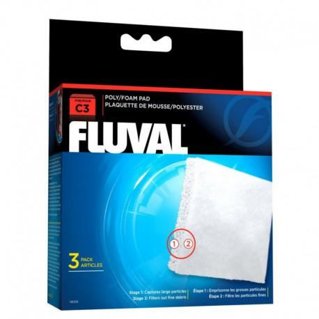 Fluval C3 Poly Foam Pad, 3pcs-V