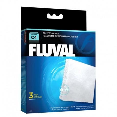 Fluval C4 Poly Foam Pad, 3pcs-V