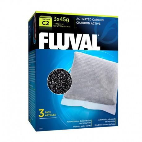 Charbon Fluval C2, 3 x 45 g (1,6 oz)-V FLUVAL Masses Filtrantes