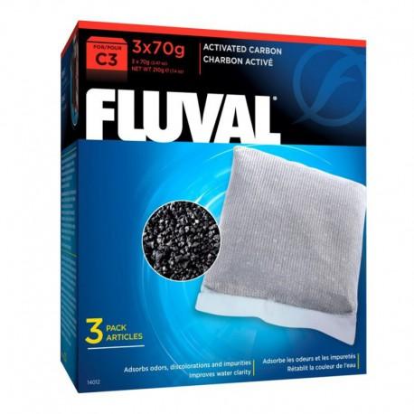 Charbon Fluval C3, 3 x 70 g (2,47 oz)-V