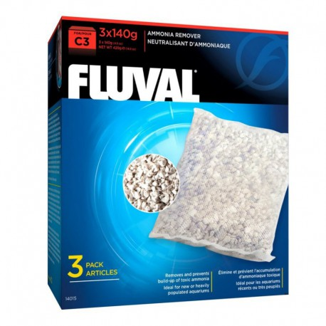 Fluval C3 Ammonia Remover3x140g(4.9oz)-V