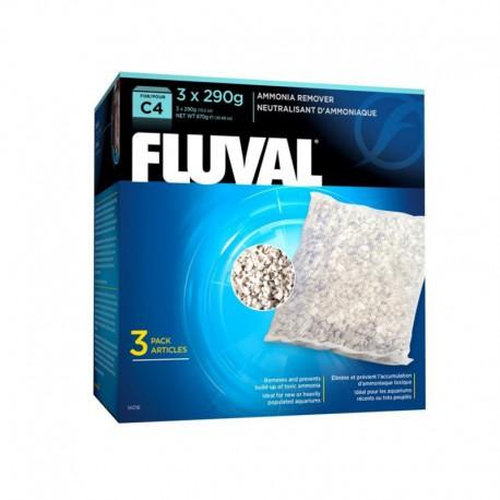 Élim. ammoniaque Fluval C4, 3 x 290 g-V