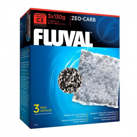 Zeo-Carb Fluval C3, 3 x 130g (4,58 oz)-V