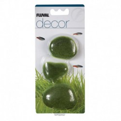 3 pierres rec. de mousse Decor Fluval, P