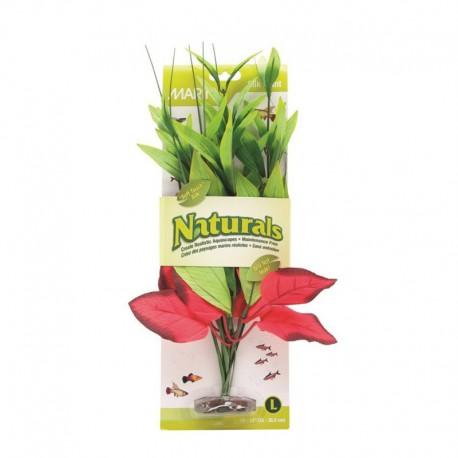 Plante soie pont. rouge/verte Nat MA, G MARINA Plantes Artificielles
