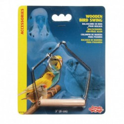 LW Wooden Bird Swing 7.5cm-V