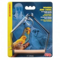 LW Wooden Bird Swing 10cm-V