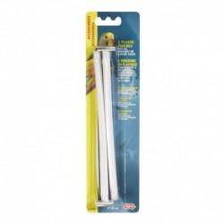 LW Plastic Perches White 2 pcs-V