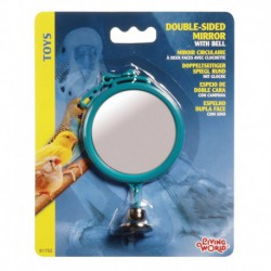 L.W.Round Dble Sided Mirror W/Bell 7cm-V