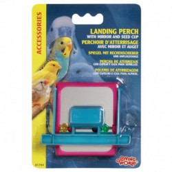 LW Landing Perch W/Mirror,4 Beads&Feed-V