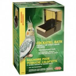LW Cockatiel Outside Bird Bath,Br+Top-V