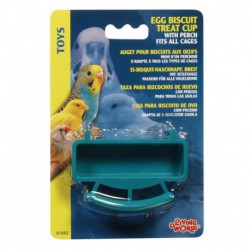 LW Egg Biscuit Treat Cup W/Perch-V