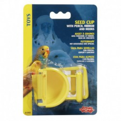 LW Seed Cup W/Perch, Mirror & Hooks-V