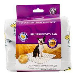 POOCH PAD MEDIUM BLANC 20 x 27 (2/UN)