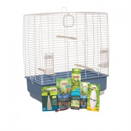 Cage équipée LW p/perr. calopsittes