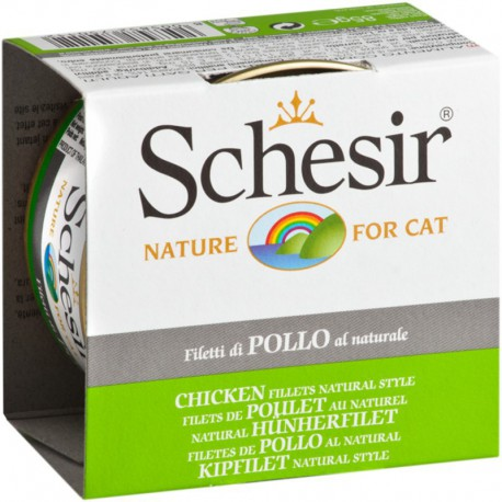 SCHESIR CHAT FILETS DE POULET AU NATUREL 85g