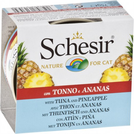 SCHESIR CHAT THON, ANANAS ET RIZ CANS