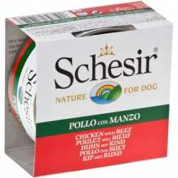 SCHESIR DOG CHICKEN&BEEF FILLETS CAN 150g