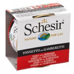 SCHESIR CAT TUNA & SHRIMPS 85g