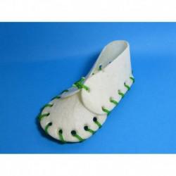 Cuir-Souliers blanc 5   (Lacets couleur)