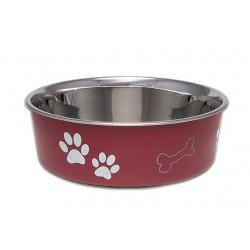 LOVING P BELLA CHIEN/CHAT BOL ROUGE MERLOT TG2130 LOVING PET Food And Water Bowls