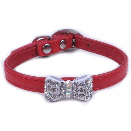3/8X12 COLLIER, NOEUD PAPILLON, ROUGE