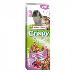 VL - CRISPY STICKS Lapin-Chinchilla Fruit des bois 2x 55g VERSELE-LAGA Friandises