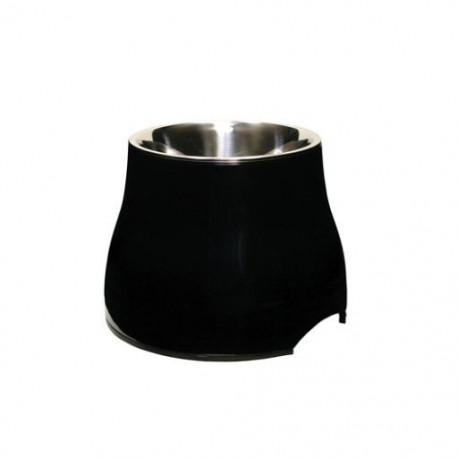 Bol élevé DO/bol int.acier inox,noir,P