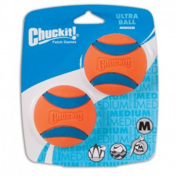 CHUCK IT! Balle Ultra Moyenne Paquet de 2 Compatible avec La