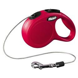Flexi Corde Classique Moyen 5m jusqu à 20kg Rouge