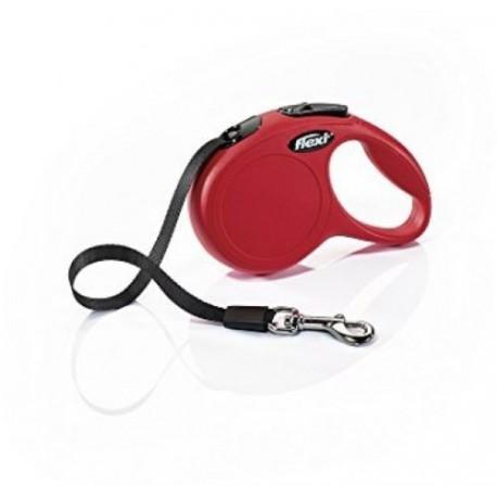 Flexi Ruban Classique Très-Petit 3m jusqu à 12kg Rouge FLEXI Laisses Et Colliers