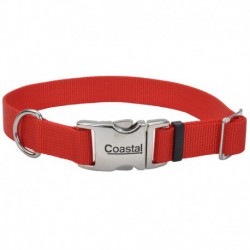 COLLIER NYL BOUCLE MÉTAL 1 x18-26  RED
