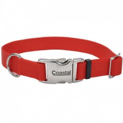 COLLIER NYL BOUCLE MÉTAL 3/4 x14-20  RED