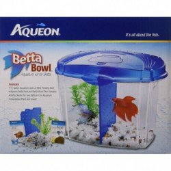 AQ Betta Bowl Stater Kit - Blue
