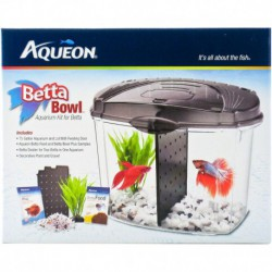 AQ Betta Bowl Starter Kit - Blk