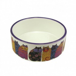 PS Jazzy Cat Ceramic Cat Bowl 5in