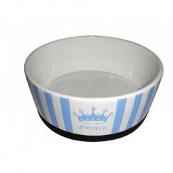 -PS  --Prince-- Ceramic Dog Bowl 7in-