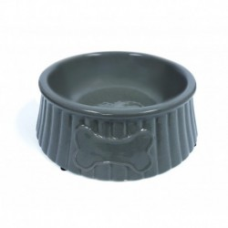 PS Beige Ceramic Dog Bowl 8in