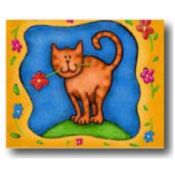 COMPANION STYLE CAT MAT SMALL CAT FLOWER