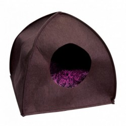 CUMFY Felt Dome Cat House Brown