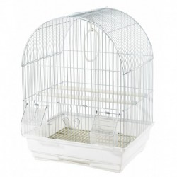 CAGE PINSONS ET SERINS BLANCHE 35X28X46CM