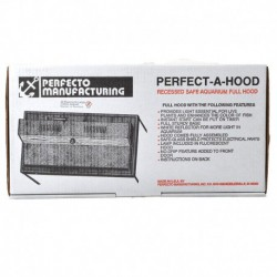 PF Recessed Flo Hood 36 Black