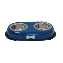 VM GABO DOG/CAT ANTI-SKID DOUBLE BOWL (BONE MASCOT) 473ML-16